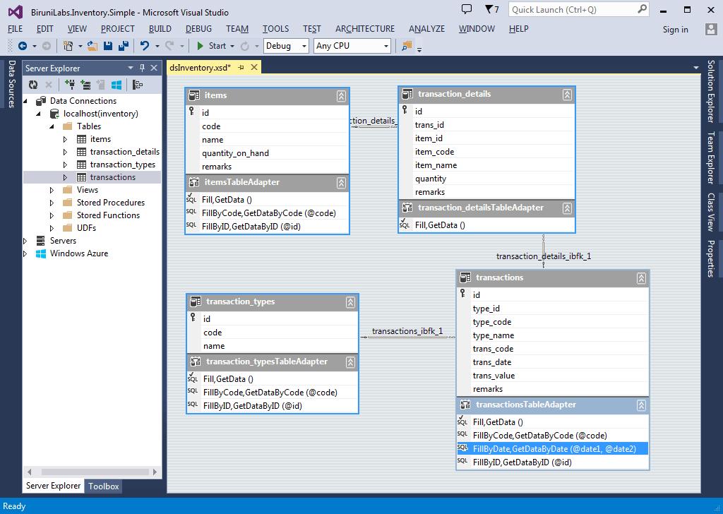 Aplikasi Inventory Sederhana - Data Access Layer Enhance Dataset